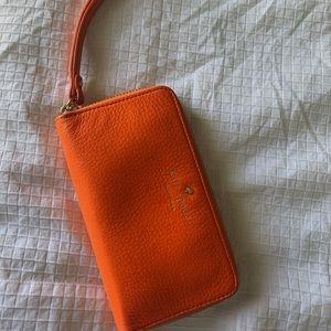 Kate Spade Orange Wallet Wristlet